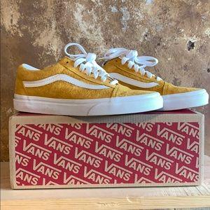 Mustard Yellow Leather Old School Vans